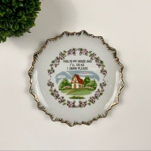 Vintage Funny Hanging Wall Plate Home Decor